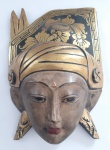 Mascara  indiana decorativa em madeira - Medida: 15x21 cm