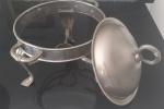 Antigo Richot em metal prateado- Diâmetro; 23 cm e Altura: 18 cm