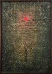 ANTÔNIO BANDEIRA (Fortaleza, 1922 / Paris, 1967) - Fabulosa obra em óleo sobre tela, de estilo contemporâneo, protegida por moldura de madeira baguete, assinada no canto inferior direito e datada 1963. Medida total 71 x 51 cm. Medida da obra 68 x 48 cm.