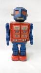 Maravilhoso e raro brinquedo antigo de lata - Lindo robô Apollo 2000 fabricado pela S.H. Horikawa no Japão. Funcionando, veja o vídeo. Mede 29cm de altura. 2 pilhas grandes