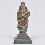 Nossa Senhora da Conceição - MINIATURA - imagem em madeira policromada brasileira. Medida 9 cm.