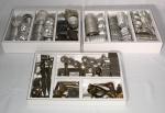 Vintage - extenso conjunto de diversos modelos de forminhas para confeiteiro.