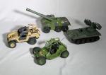 Comandos em Ação - conjunto de 4 carros militares.