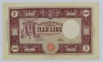 Numismática - Itália 1947 - Rara Grande Nota 1000 Lira, Grande M, Medusa. Muito bomestado.