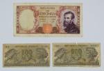 Numismática - Lote composto por 1 cédula de 10.000 lira (1962), 2 cédulas de 500 lira (1966) e 1 cédula de 10 lira (1944) no estado.