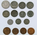 Numismática - Lote composto por 14 moedas da Republica Portuguesa, escudos e centavos, sendo 4 de bronze e 10 de níquel. No estado.