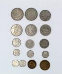Numismática - Lote composto por 16 moedas, sendo 9 dos Países Baixos, 6 da Alemanha e 1 da Áustria. No estado.