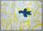 RENOT, Pássaro azul e o recôncavo - Óleo sobre tela - 100x120 cm - ACSD e VERSO