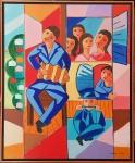 CICERO DIAS, Serenata -  Óleo sobre tela - 65x54 cm - ACID