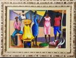 CARYBE, Feira livre - Óleo sobre tela - 40x60 cm - ACIE 1984