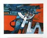 ROBERTO BURLE MARX, Sem titulo - Gravura 64/120 - 70x80 cm - ACID ( Assinatura na chapa )