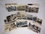 Vinte cartões postais monocromáticos de paisagens brasileiras. Não circulados. 9 x 14cm.