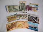 Quarenta cartões postais  de diversos países. Não circulados. 9 x 14cm.