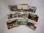 Trinta e cinco cartões postais  de diversos países.  Décadas de 1940 - 1950 e 1960. Circulados.  9 x 14cm.