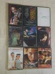 Nove DVD's de diversos artistas e títulos. Originais.