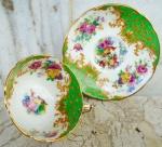 PARAGON - Fine Bone China  - H. M The Queen Mary - Rochinghan - Linda xícara de coleção de café , com ornamentação de aves do paraíso e ramos de flores com detalhes em ouro. Made in England.