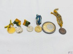 Lote de 6 medalhas diversas para colecionador. Medindo a maior 5cm de diâmetro.