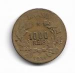 BRASIL - BRONZE ALUMINIO - 1.000 RÉIS - ANO DE 1931 - TIRAGEM: 200.000 PEÇAS (ESCASSA) - CATALOGO AMATO: V.134 - VALOR ESTIMATIVO DE MERCADO: R$ 250,00 -  BOM ESTADO DE CONSERVAÇÃO.