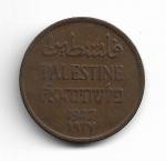 PALESTINA - BRONZE - 2 MILS - 1927 - PESO: 7.80 GRAMAS - CATALOGO KM# 2 - VALOR ESTIMATIVO; R$ 80,00 - CONSERVAÇÃO: MBC