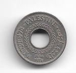 PALESTINA - COPPER-NICKEL - 5 MILS - 1934 - PESO: 2.90 GRAMAS - DIAMETRO: 20MM - TIRAGEM: 500.000 - CATALOGO KM# 3 - VALOR ESTIMATIVO; R$ 180,00 - CONSERVAÇÃO: SOBERBA - DATA ESCASSA