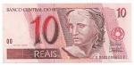CEDULA DO BRASIL - PRIMEIRA SÉRIE DC0001 - NUMERAÇÃO 006651 - 10 REAIS - ANO DE 2003 - CATALOGO AMATO: C-296 - VALOR DE MERCADO: R$ 160,00 - CONSERVAÇÃO: FE = FLOR DE ESTAMPA