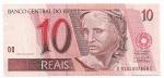 CEDULA DO BRASIL - PRIMEIRA SÉRIE DC9101 - NUMERAÇÃO 007868 - 10 REAIS - ANO DE 2007 - CATALOGO AMATO: C-298 - VALOR DE MERCADO: R$ 200,00 - CONSERVAÇÃO: FE = FLOR DE ESTAMPA