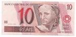 CEDULA DO BRASIL - PRIMEIRA SÉRIE CC1137 - NUMERAÇÃO 021042 - 10 REAIS - ANO DE 2003 - CATALOGO AMATO: C-295 - VALOR DE MERCADO: R$ 140,00 - CONSERVAÇÃO: FE = FLOR DE ESTAMPA