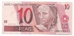 CEDULA DO BRASIL - PRIMEIRA SÉRIE FC1609 - NUMERAÇÃO 010356 - 10 REAIS - ANO DE 2010 - CATALOGO AMATO: C-301 - VALOR DE MERCADO: R$ 140,00 - CONSERVAÇÃO: FE = FLOR DE ESTAMPA