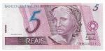 CEDULA DO BRASIL - PRIMEIRA SÉRIE CC7096 - NUMERAÇÃO 010072 - 5 REAIS - ANO DE 2009 - CATALOGO AMATO: C-279 - VALOR DE MERCADO: R$ 100,00 - CONSERVAÇÃO: FE = FLOR DE ESTAMPA