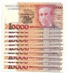 BRASIL - LOTE COM 10 CEDULAS SEQUENCIADAS - 10 CRUZADOS NOVOS - ANO DE 1989 - VALOR DE CATALOGO R$ 180,00 - CONSERVAÇÃO: FE = FLOR DE ESTAMPA