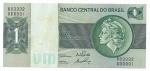 BRASIL - NUMERO 000001 - SÉRIE B03332 - 1 CRUZEIRO - ANO DE 1972 - CATALOGO AMATO: C-130 - VALOR ESTIMATIVO DE COMERCIO: R$ 150,00 - CONSERVAÇÃO: FE = FLOR DE ESTAMPA (MARCAS DO TEMPO)