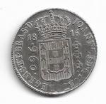 BRASIL - PRATA - 960 RÉIS (PATACÃO) - ANO DE 1816 BAHIA - CATALOGO AMATO: P-401 - VALOR ESTIMATIVO R$ 800,00 - CONSERVAÇÃO: SOBERBA (LINDA PEÇA)