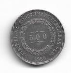 BRASIL IMPÉRIO - PRATA - 500 RÉIS - ANO DE 1860 - CATALOGO AMATO: P-593 - VALOR ESTIMATIVO R$ 70,00 - OTIMO ESTADO DE CONSERVAÇÃO.