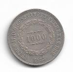 BRASIL IMPÉRIO - PRATA - 1.000 RÉIS - ANO DE 1855 - CATALOGO AMATO: P-603 - VALOR ESTIMATIVO R$ 120,00 - OTIMO ESTADO DE CONSERVAÇÃO.