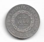 BRASIL IMPÉRIO - PRATA - 1.000 RÉIS - ANO DE 1858 - CATALOGO AMATO: P-606 - VALOR ESTIMATIVO R$ 120,00 - OTIMO ESTADO DE CONSERVAÇÃO.