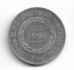 BRASIL IMPÉRIO - PRATA - 1.000 RÉIS - ANO DE 1860 - CATALOGO AMATO: P-608 - VALOR ESTIMATIVO R$ 120,00 - OTIMO ESTADO DE CONSERVAÇÃO.