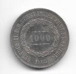 BRASIL IMPÉRIO - PRATA - 1.000 RÉIS - ANO DE 1863 - CATALOGO AMATO: P-611 - VALOR ESTIMATIVO R$ 100,00 - BOM ESTADO DE CONSERVAÇÃO.