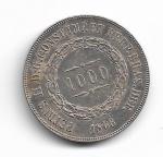 BRASIL IMPÉRIO - PRATA - 1.000 RÉIS - ANO DE 1866 - CATALOGO AMATO: P-614 - VALOR ESTIMATIVO R$ 120,00 - OTIMO ESTADO DE CONSERVAÇÃO.