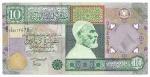 LIBYA - 10 DINARS - ANO DE 2002 - CATALOGO PICK: P-66 - VALOR ESTIMATIVO R$ 100,00 - CONSERVAÇÃO: MBC / SOBERBA