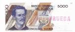 PRUEBA - EQUADOR - 5.000 SUCRES - ANO DE 1991 - CATALOGO PICK: P-s4 - VALOR ESTIMATIVO R$ 200,00 - CONSERVAÇÃO: FE = FLOR DE ESTAMPA