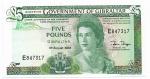 GIBRALTAR - 5 POUNDS - ANO DE 1988 - CATALOGO PICK: P-21b - VALOR ESTIMATIVO R$ 200,00 - CONSERVAÇÃO: FE = FLOR DE ESTAMPA