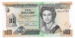 BELIZE - 10 DOLLARS - ANO DE 2011 - CATALOGO PICK: P-68b - VALOR ESTIMATIVO R$ 150,00 - CONSERVAÇÃO: FE = FLOR DE ESTAMPA