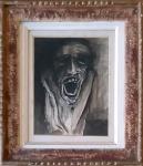 Ivan Serpa (1923-1973). FASE NEGRA. 1961. Nanquim e aguada sobre papel. 30 x 22 cm (mi); 49 x 41 cm (me). Assinado e datado Serpa 26.08.61 (cid). Moldura ao estilo Kaminagai.