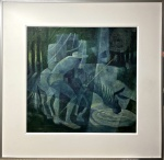 Enrico BIANCO (1918-2013) - óleo s/ tela colado madeira, medindo: 70 cm x 77 cm e 1,03 m x 1,00 m