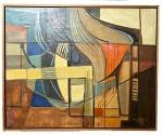 RUBERTO BURLE MARX - óleo s/ tela colado madeira, medindo: 82 cm x 68 cm (COLEÇÃO PARTICULAR DO RIO DE JANEIRO, ACOMPANHA TRANSFERENCIA DE PROPRIEDADE)