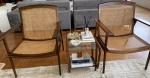 JOAQUIM TENREIRO - PAR de grandiosas poltronas em jacarandá e palhinha, medindo: 92 cm alt x 70 cm comp. x 68 cm prof.