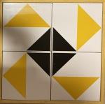 Linda cerâmica emoldurada, medindo:  33 cm x 33 cm