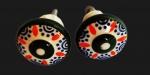 Par de puxadores de porcelana estilo antigo.
