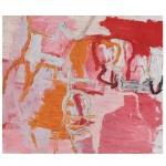 Rodrigo Andrade (1962), Sem Título. Óleo sobre tela. Assinado no verso e datado de 1993. 130 x 150 cm. Pintor, gravador, artista gráfico. Inicia sua formação em gravura no ateliê de Sérgio Fingermann em São Paulo, em 1977, e no ano seguinte frequenta o Studio of Graphics Arts, em Glasgow, Escócia. Estuda desenho com Carlos Fajardo em 1981, e participa de cursos de gravura e pintura na Ecole Nationale Supérieure dês Beaux-Arts Escola Nacional Superior de Belas Artes de Paris, entre 1981 e 1982. De volta ao Brasil, integra, entre 1982 e 1985, o grupo Casa 7. Em 1984, participa do 2 Salão Paulista de Arte Contemporânea, em que ganha o prêmio revelação, e, em 1985, da 18ª Bienal Internacional de São Paulo e do 8 Salão Nacional de Artes Plásticas, no Rio de Janeiro, no qual recebe o prêmio aquisição. Faz sua primeira individual em 1986, no Subdistrito Comercial de Arte, em São Paulo. Desde 1987, atua como artista gráfico de revistas e livros e produz, entre 1991 e 1998, capas para a revista Veja. Recebe, em 1991, o prêmio Brasília de Artes Plásticas, do Museu de Arte de Brasília - MAB. Nesse ano, participa como professor do projeto A Produção Refletida, da Oficina Cultural Oswald de Andrade, em São Paulo. A partir de 2001, ministra curso sobre arte contemporânea no Museu de Arte Moderna de São Paulo - MAM/SP.