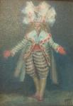 Mário Gruber(1927-2011). Da Série Os Noivas nº 028. Óleo sobre tela sobre madeira. Assinado, cid, situado SP e datado out 1989. 33 x 24 cm.